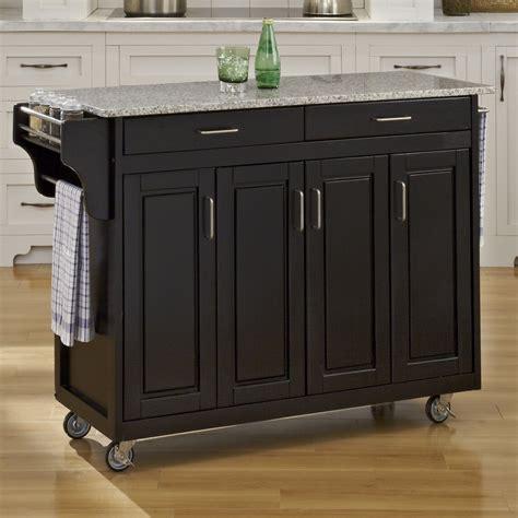 create  cart kitchen island  granite top wayfair