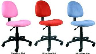 girls teens hot pink red or blue microfiber desk chairs ebay