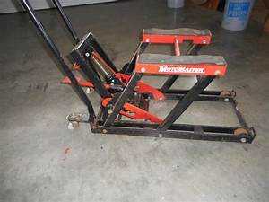 older moto master motor cycle floor jack chemainus cowichan With how to jack up a motorcycle with a floor jack