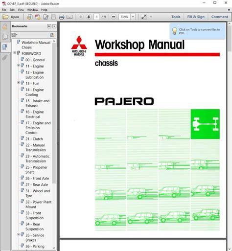 awesome   mitsubishi montero pajero service repair manual wiring diagrams