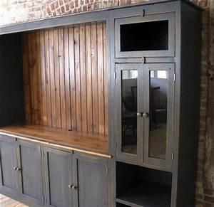 Large Farmhouse Style Media Cabinet ECustomFinishes