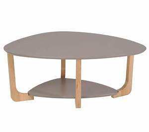 Made Com Table Basse : table basse ovale bois ~ Dallasstarsshop.com Idées de Décoration
