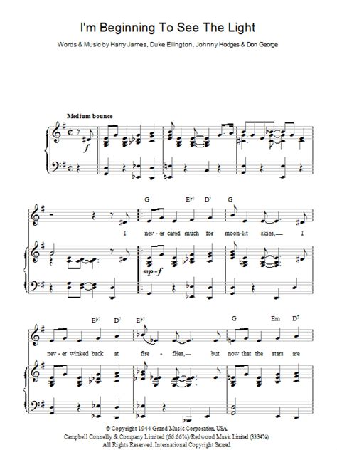 i see the light piano pdf i 39 m beginning to see the light sheet music direct