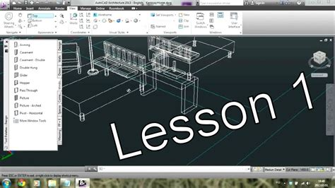 3d Home Design Tutorial Pdf by Autocad Architecture Tutorial For Beginners 1