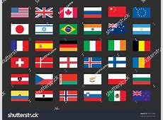 Vector Set World Flags Usa United Stock Vector 45311044