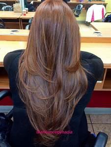 V-shaped layered cut | Hairstyles | Pinterest | My hair, V ...