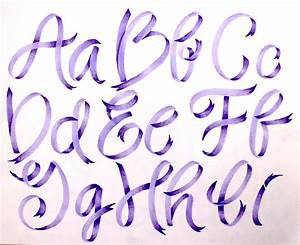 ribbon lettering with the new pastel dual brush pen set With letter ribbon