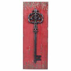 red metal key hole with acrylic knob home is wherever i With kitchen cabinets lowes with metal wall art hobby lobby