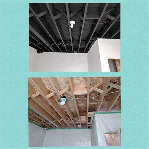 painted unfinished basement ceiling easiest
