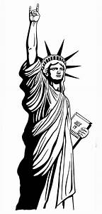 statue of liberty drawing outline clip art clipartingcom With statue of liberty drawing template