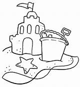 Sand Coloring Castle Shovel Bucket Sandcastle Drawing Clipart Printable Typical Colouring Sheet Getcoloringpages Clip Az Sheets Simple Popular Buckets Neiltortorella sketch template