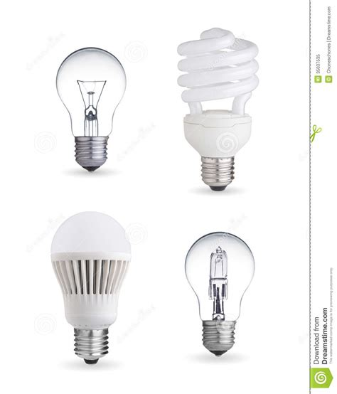different light bulbs royalty free stock photo image