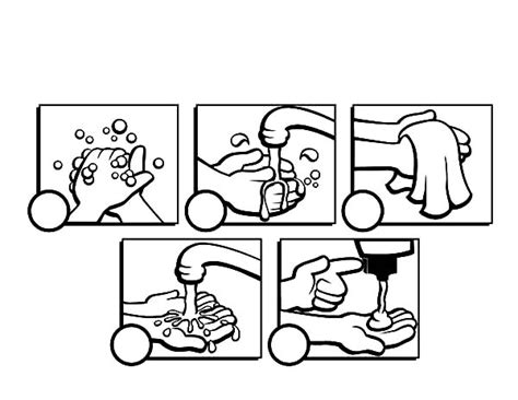 Printable Hand Washing Coloring Sheets