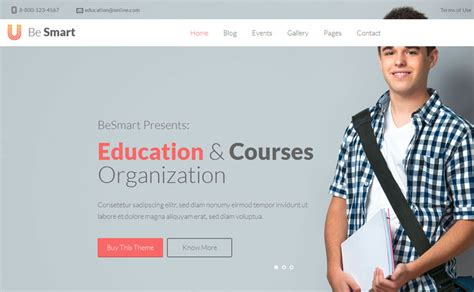 62+ Best Education Website Templates Free & Premium