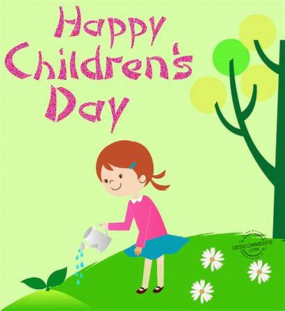 Happy Animated Children Watering Plants Child 3d