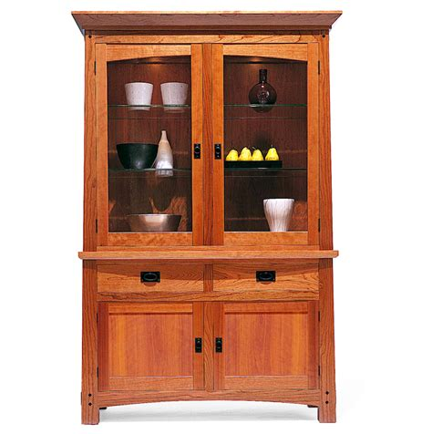 sideboard with hutch arts crafts china cabinet furniture