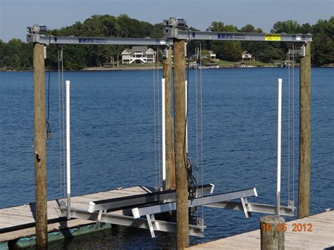 Boat Lift Us by Boat Lifts Us Dock Builder Installing Top Of The Line