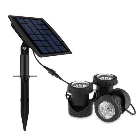 solar submersible rgb led pond spot lights for outdoor