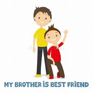 Two brothers together stock vector. Illustration of little ...