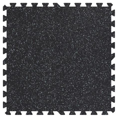 groovy mats grey speck 24 in x 24 in rubber comfortable