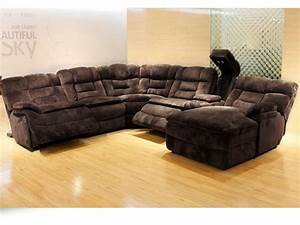 Champion chocolate sectional bailey39s furniture for Wildon home bailey microfiber sectional sofa with chaise on left