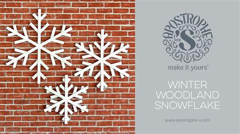 large indoor  outdoor snowflake decorations diy crafts