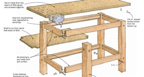 Woodwork Homemade Woodworking Workbench Plans Pdf   DMA