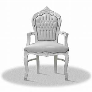 Barock Möbel Weiß : barock deluxe m bel barock stuhl rom weiss weiss kunstleder ~ Markanthonyermac.com Haus und Dekorationen