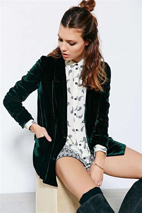 Velvet Blazer with Stylish Outfits for Women - Womenitems.Com