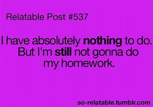 Funny Quotes About Homework. QuotesGram