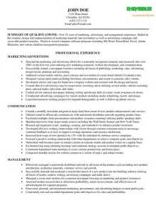 marketing resume exles skills marketing resume sle