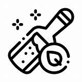 Elixir Icon Outline Symbol Organic Bottle Linear Medieval Thin sketch template