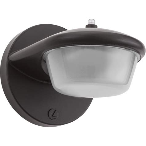 lithonia lighting 1 light bronze outdoor integrated led wall mount sconce with dusk to dawn