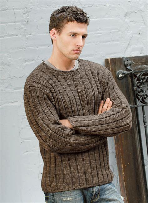 mens ribbed sweater blue sky fibers