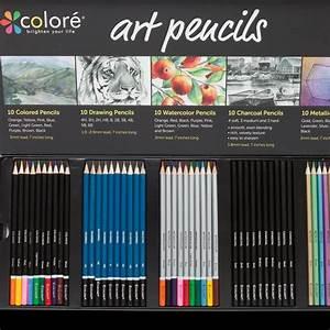 colore premium pencils pack 50 assorted pencil set