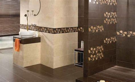ceramic tile bathroom ideas beautiful bathroom ceramic tile design brown floral wall accent