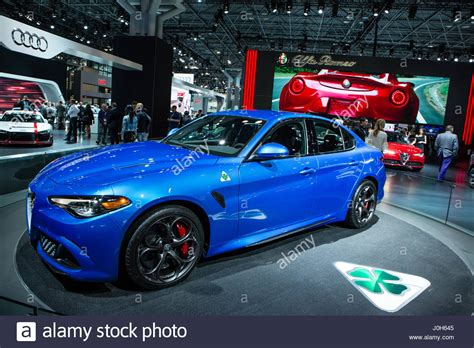 Alfa Romeo New York by New York Usa 12th Apr 2017 The Alfa Romeo Giulia