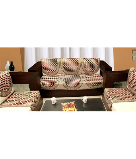 6 Seater Sofa Cover by Blue 5 Seater Jacquard Set Of 6 Sofa Cover Set Buy
