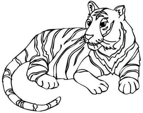 Coloring Harimau by 60 Tiger Shape Templates Crafts Colouring Pages Free
