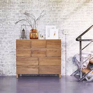 Buy teak chests of drawers - Milano 10 drawer cupboards sale