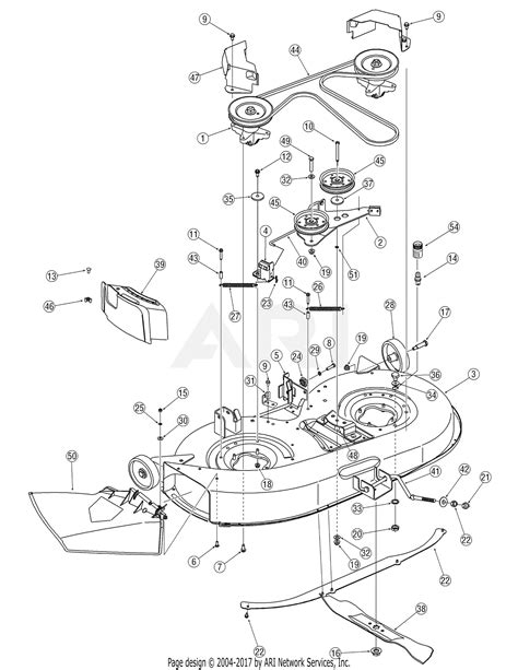 Deck Part Diagram by Mtd 13aj775g790 Lt 542g 2007 Parts Diagram For Deck
