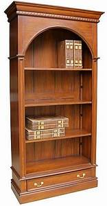 Arch, Top, Bookcase, In, Mahogany