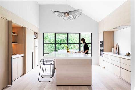light wood  white countertops create  neutral softness