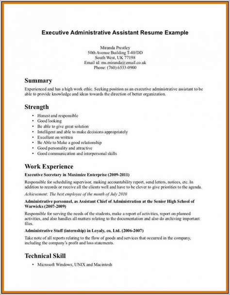 Office Assistant Resume by Sle Cover Letter For Resume Office Assistant Cover