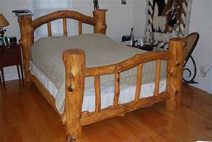 Pondarosa Pine Log Bed - by Brent Livingwell @ LumberJocks