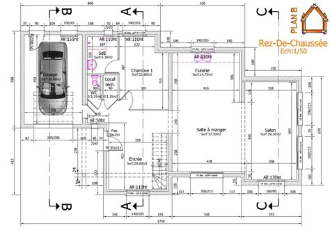 plan de maison 4 chambres avec 騁age plan dune maison avec 4 chambres maison moderne