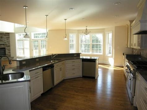 Kitchen Island With Sink And Dishwasher. Angled Around