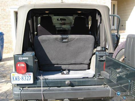 jeep wrangler backseat subwoofer inside of a jeep wrangler rear seat