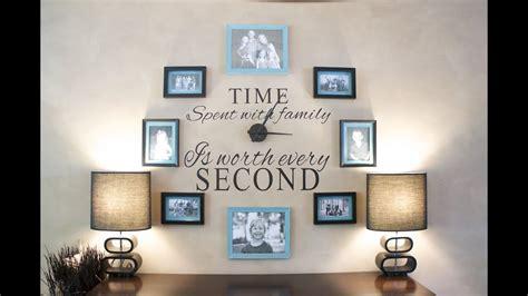 diy     family clock wall youtube
