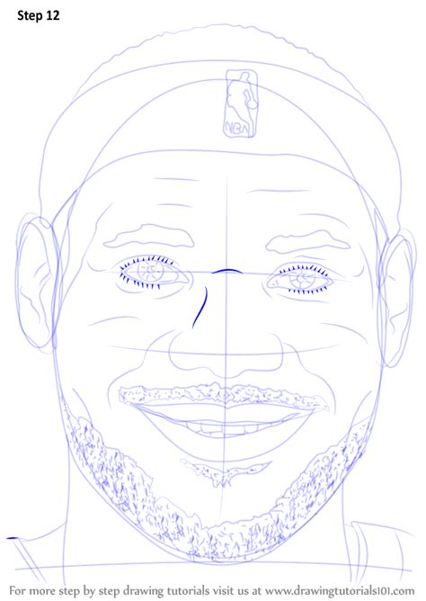 learn   draw lebron james face basketball players